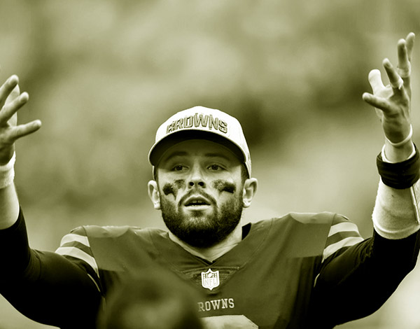 Image of American football player, Baker Mayfield