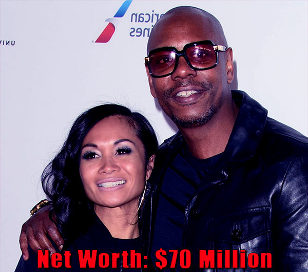 Image of Elaine Chappelle husband Dave Chappelle net worth is $70 million