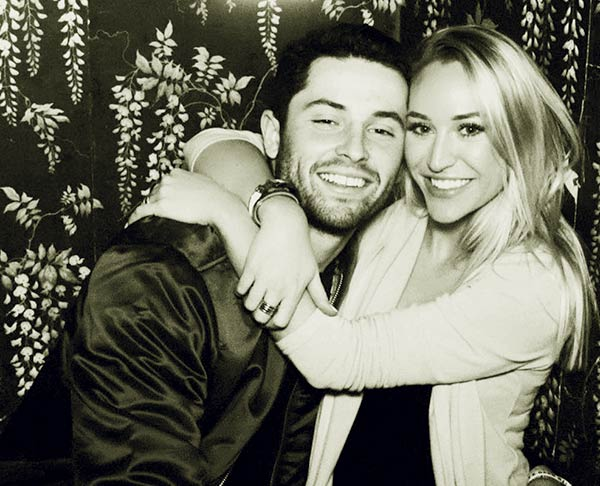 Image of Emily Wilkinson with her husband Baker Mayfield