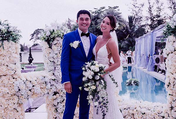 Image of Liv Lo with her husband Henry Golding