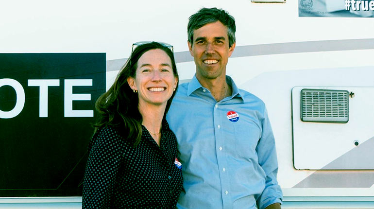 Image of Amy Hoover Sanders: How Old Is She. Facts About Beto O Rourke's Wife.