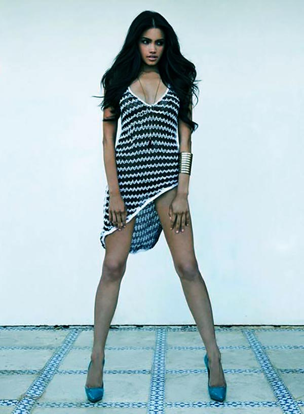 Image of Caption: Model, Bryiana Noelle Flores height is 5 feet 3 inches