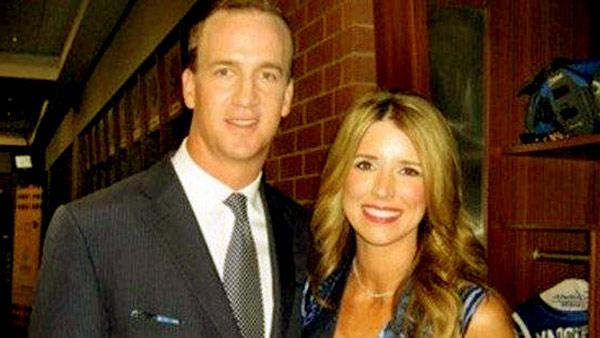 Image of Ashley Thompson with her husband Peyton Manning