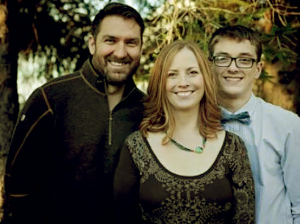 Image of Cindy Lavender-Bowe with her husband Mark Bowe and son Atticus.