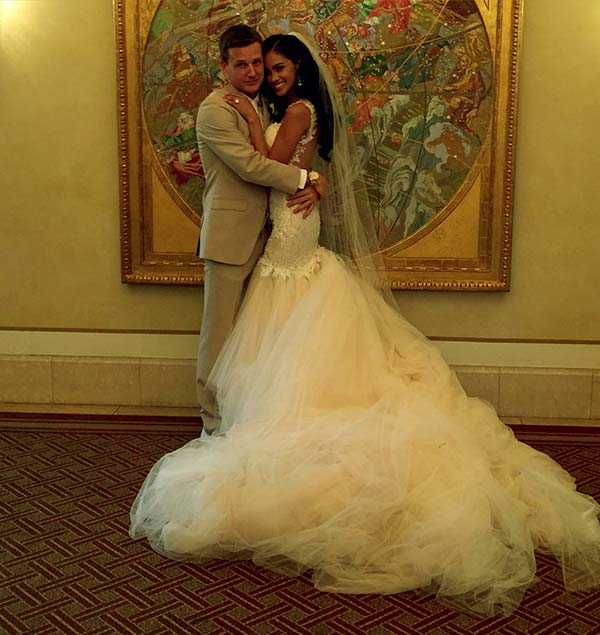 Image of Bryiana Noelle Flores with her husband Rob Dyrdek