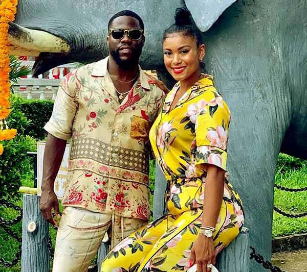 Image of Caption: Eniko Parrish with her husband Kevin Hart