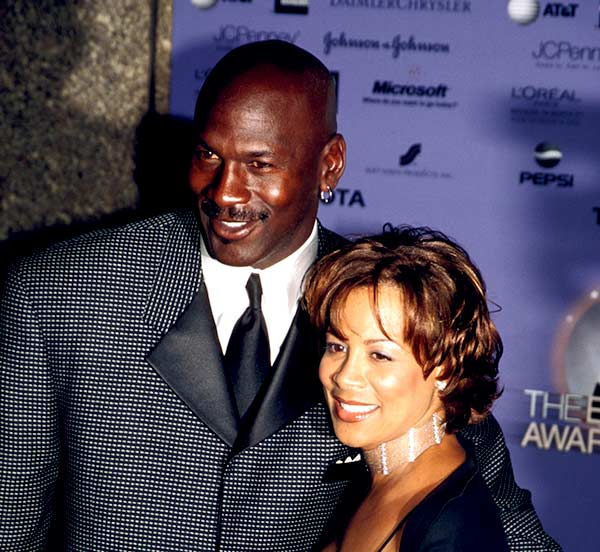 Image of Caption: Juanita Vanoy's with her ex-Husband Michael Jordan