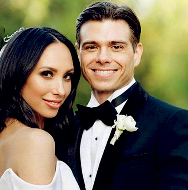 Image of Caption: Joey Lawrence brother Matthew and sister-in-law Cheryl Burke