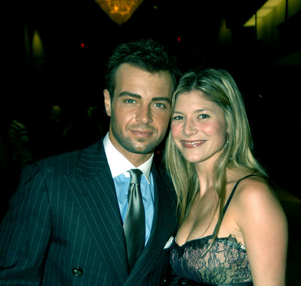 Image of Caption: Chandie husband Joey with his first wife Michelle Vella