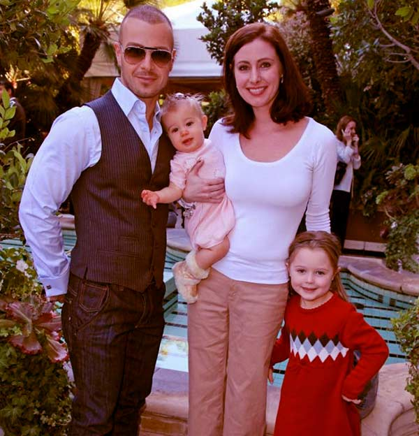 Image of Caption: Chandie and Joey with their kids Charli Lawrence and Liberty Grace