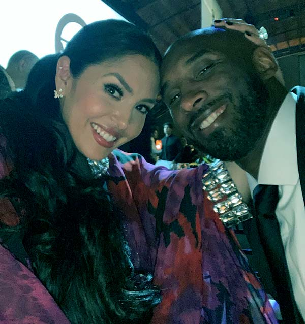 Image of Caption: Vanessa Laine Bryant with her husband Kobe Bryant