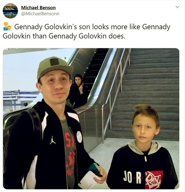 Image of Alina husband Gennady with his son Vadim
