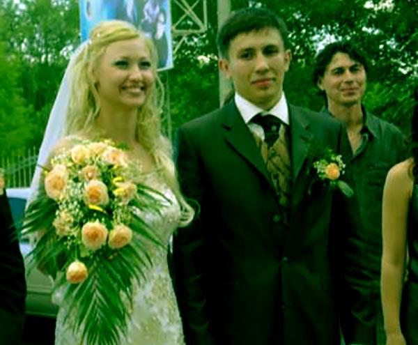 Image of Alina Golovkin with her husband Gennady Golovkin