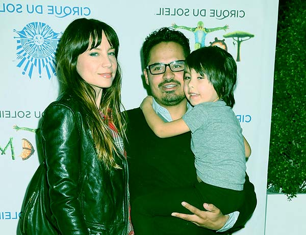 Image of Caption: Brie Shaffer with her husband Michael and son Roman