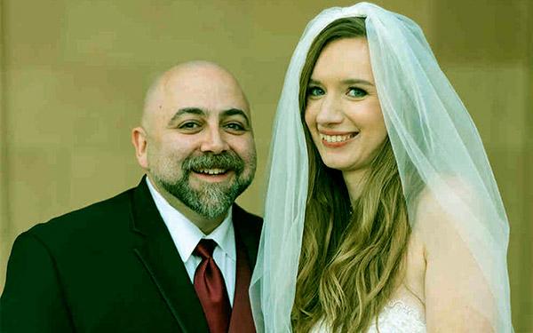 Image of Caption: Johnna Colbry with her husband Duff Goldman