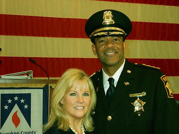 Image of Julie Clarke wife of American Sheriff, David Clarke