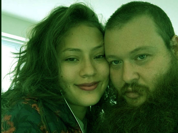 Image of Action Bronson with his girlfriend Val