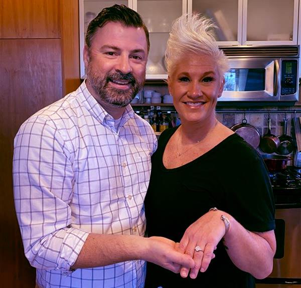 Image of Chef Anne Burrell engaged to her boyfriend Stuart Claxon