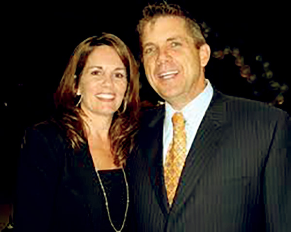 Image of Beth Shuey with her ex-husband Sean Payton