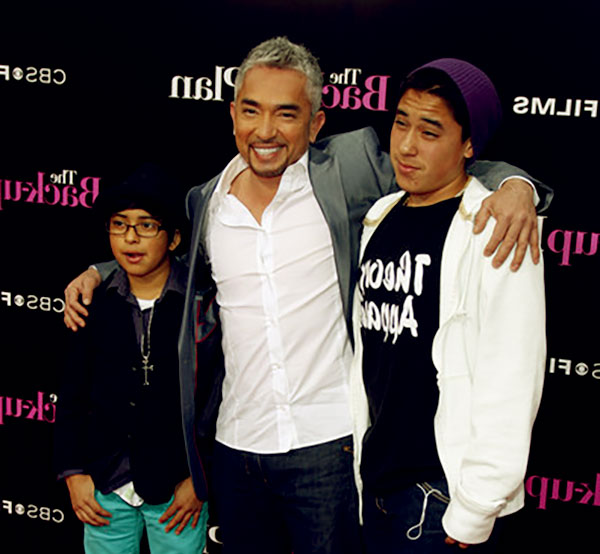 Image of Ilusion ex-husband Cesar with kids Calvin and Andre
