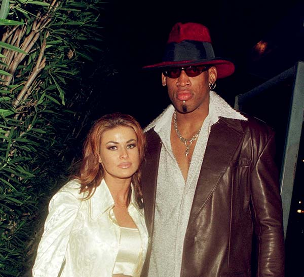 Image of Dennis with his ex-wife Carmen Electra