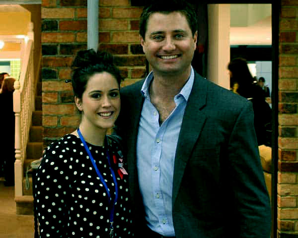 Image of George Clarke with his ex-wife Catriona Drummond