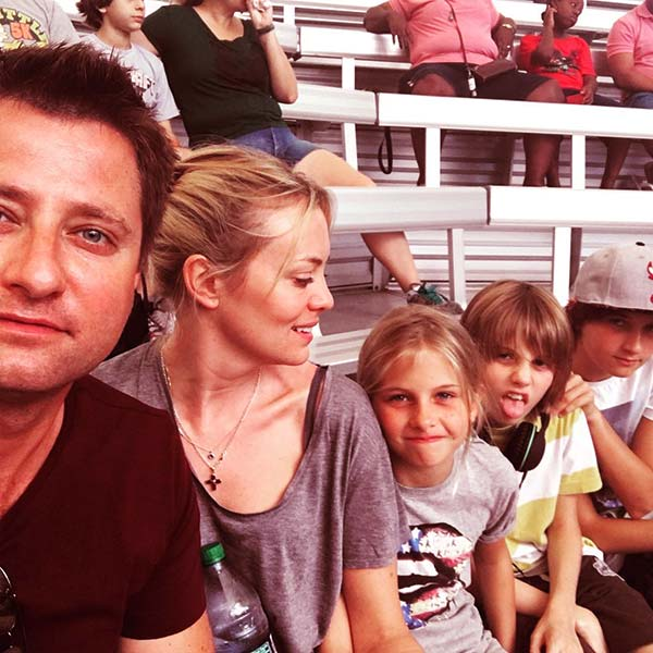 Image of George Clarke with wife Katie along with three kids