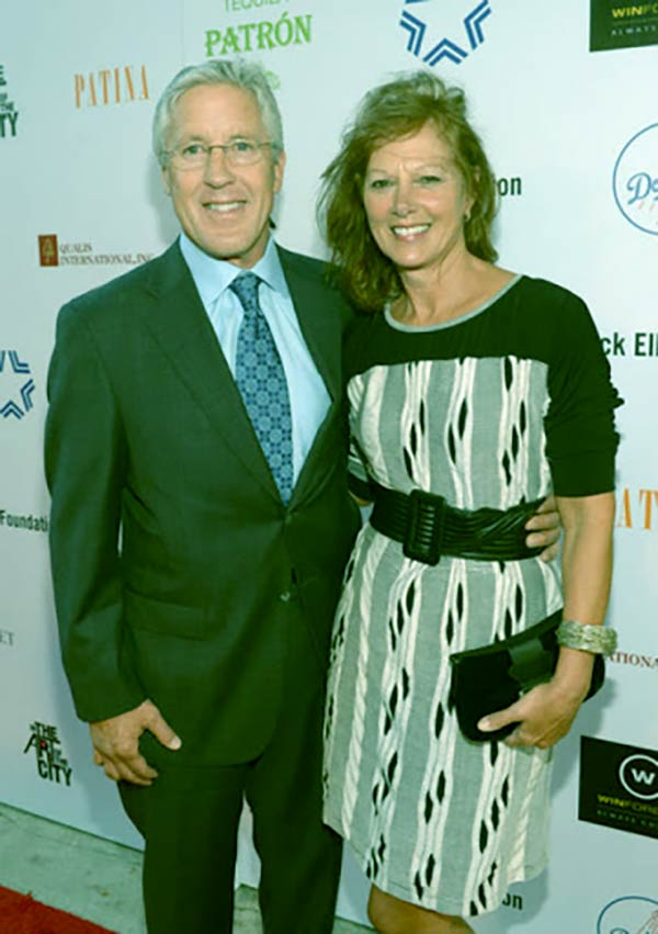 Image of Glena Goranson with her husband Pete Carroll