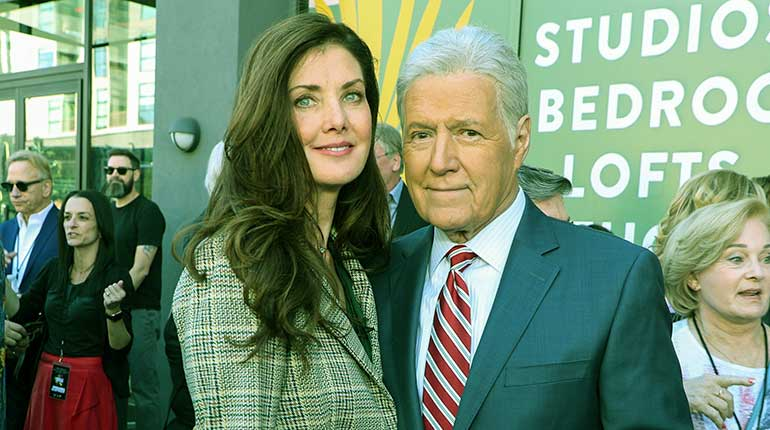 Image of How old is Alex Trebek Wife Jean Currivan Trebek. Her wiki-bio.