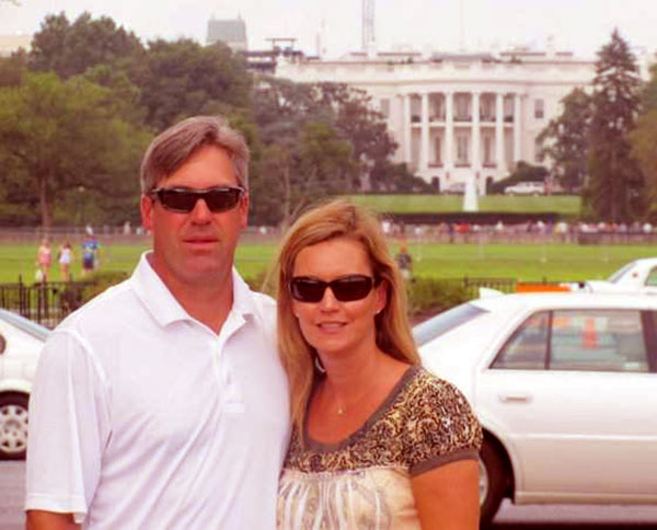 Image of Jeannie Pederson with her husband Doug Pederson