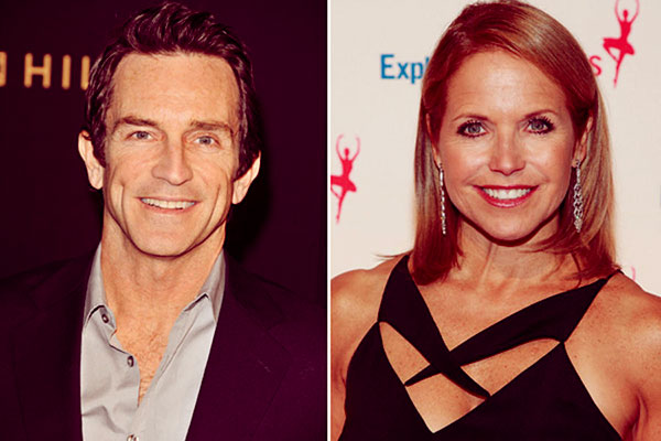 Image of Jeff Probst date with Katie Couric
