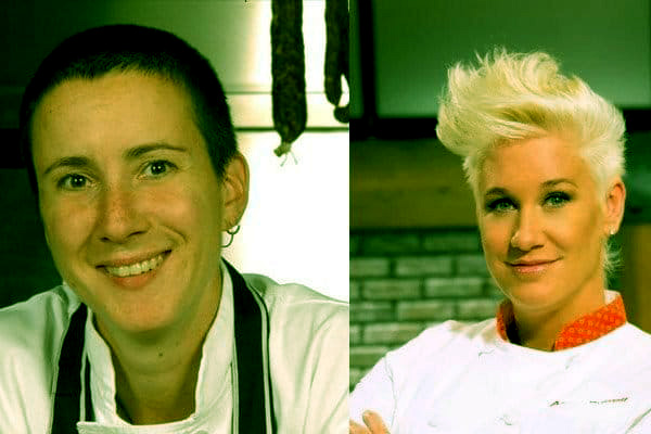 Image of Anne Burrell and her rumored wife Koren Grieveson