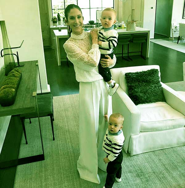 Image of Sarah Marshall with her twins John and Marshall