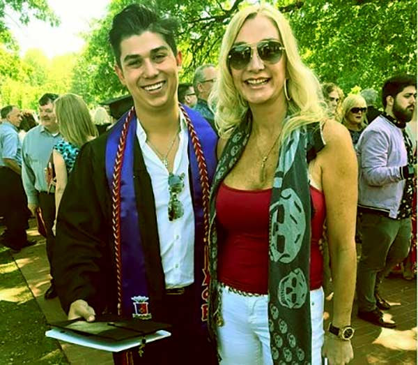 Image of Suzanne Rawlings with her son Sinjin Venegas
