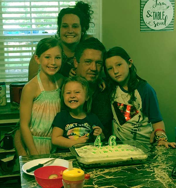 Image of Tricia Day with her husband JJ Da Boss and kids