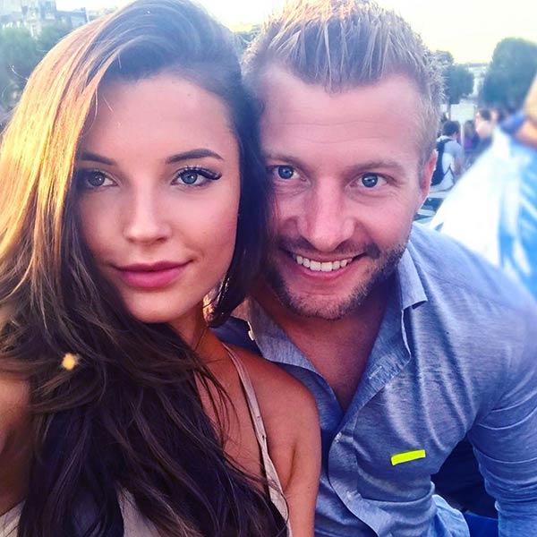 Image of Veronika Khomyn with her boyfriend Sean McVay