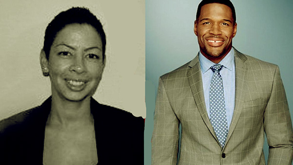 Image of Michael Strahan and his first wife Wanda Hutchins