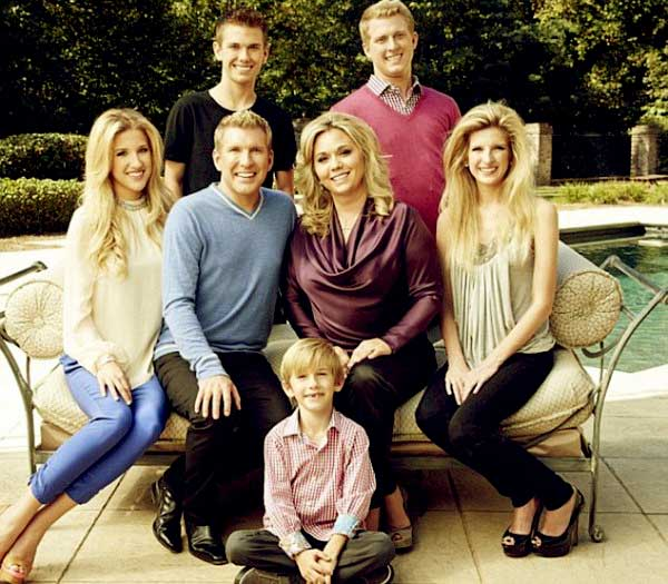 Image of Julie Chrisley with her family
