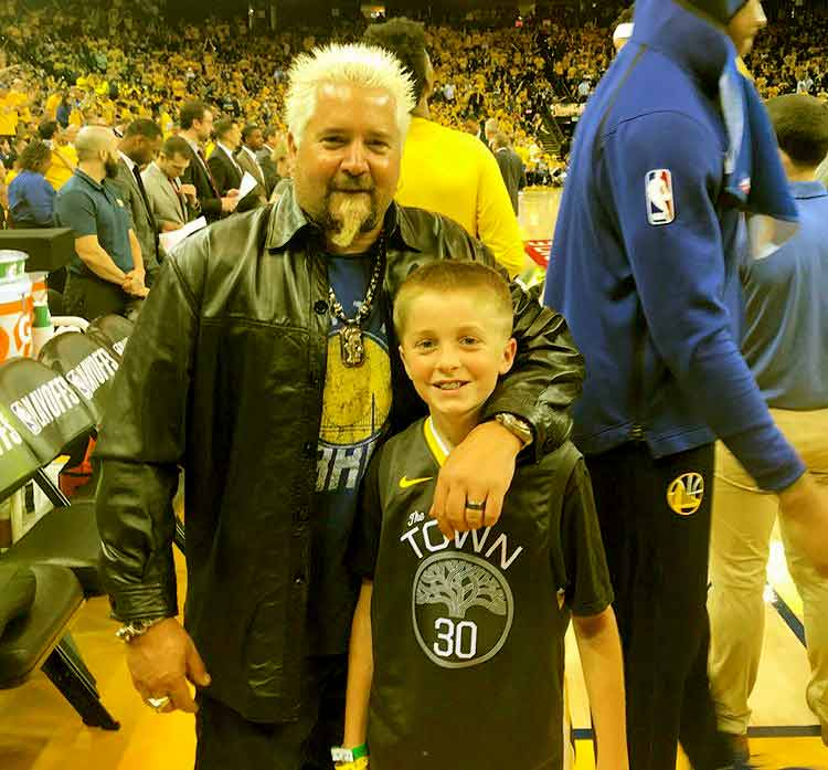 Image of Guy Fieri with his second son Ryder Fieri