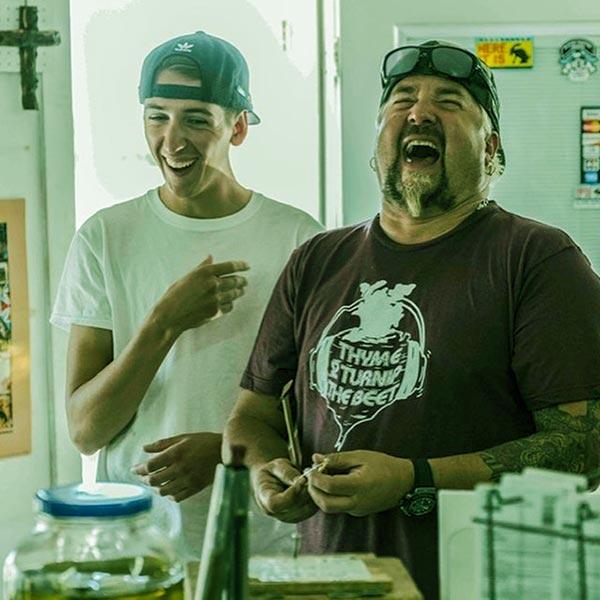 Image of Lori husband Guy with his first son Hunter Fieri