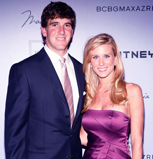 Image of Abby McGrew with her husband Eli Manning